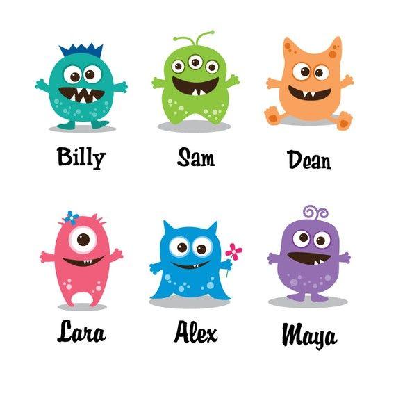 Cute Monster Nursery Art Choose Two Little by HopSkipJumpPaper, $38.00