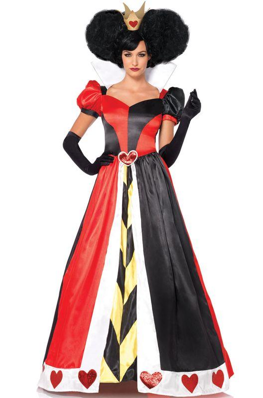 Deluxe Queen of Hearts Adult Costume - PureCostumes.com #aliceinwonderland #halloween #costumes