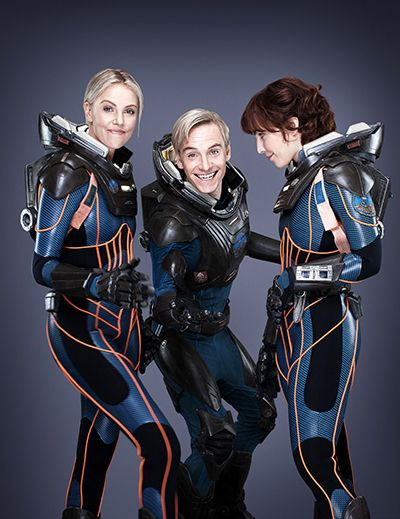 Michael Fassbender and Charlize Theron | Space Suit Party! Is This the Most Adorable Prometheus Cast Photo Or ...