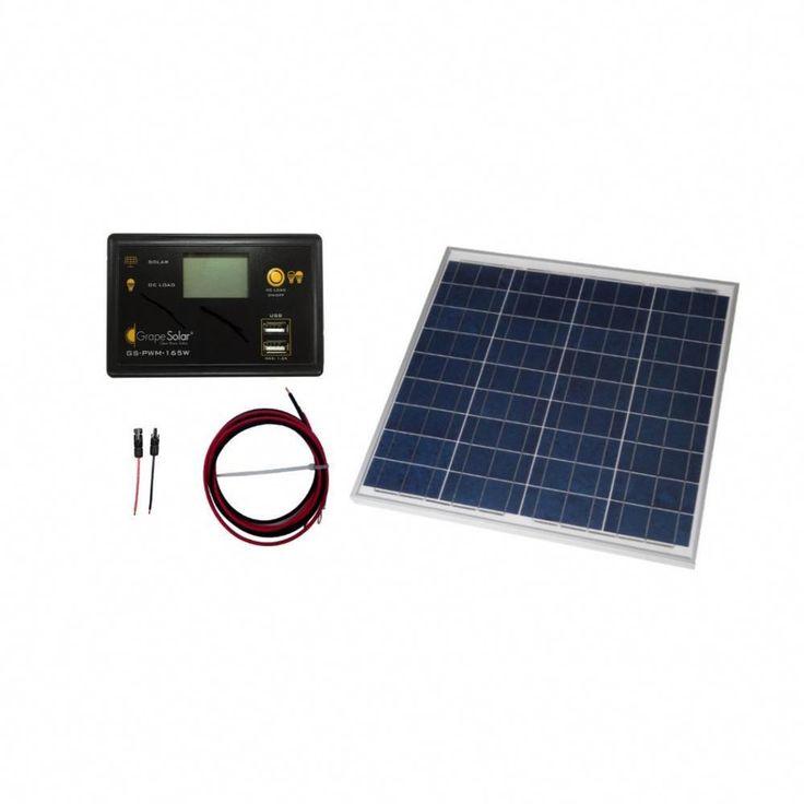 Grape solar 50watt offgrid solar panel kitgs50kit
