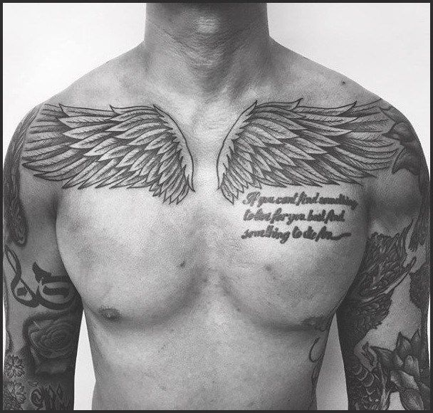 40 Wing Chest Tattoo Designs For Men Freedom Ink Ideas Chest