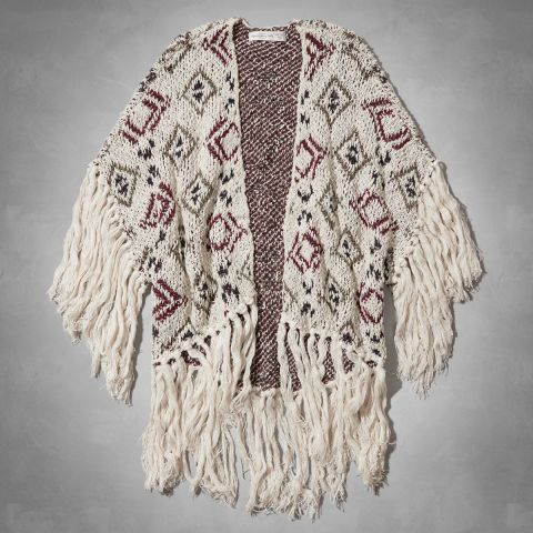 Abercrombie Kaela Fringe Kimono. Shop it and 29 other Coachella-ready jackets (because it CAN get cool in the desert).
