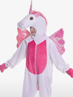 If you love unicorns, you'll LOVE this unicorn onesie from partydelights.co.uk. It's the ultimate easy fancy dress costume and would be perfect for a unicorn party.