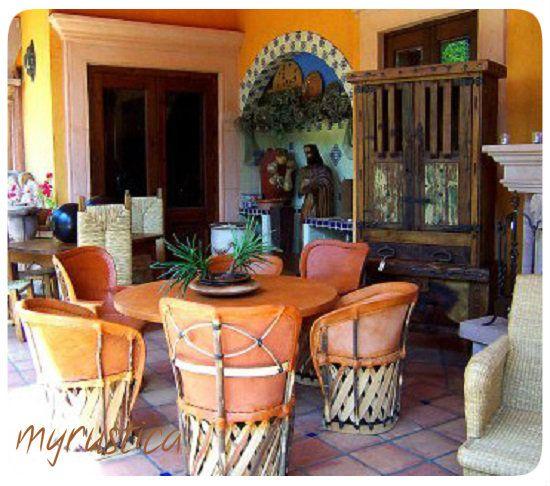 garden patio furniture rustic mexican