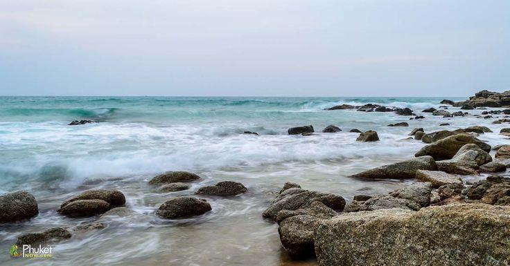 Sea stones at Surin beach Phuket in Thailand