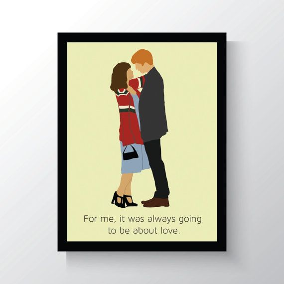 About Time Movie, Rachel McAdams, Domhnall Gleeson, minimalist Movie Poster, 8x10 Wall Print, Home Decor