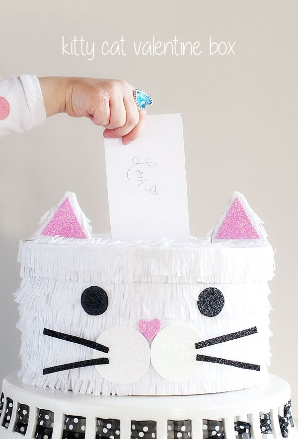 Kitty Cat Valentine Box | VALENTINES DAY IDEAS | Pinterest | Cat valentine, Kitty and Box