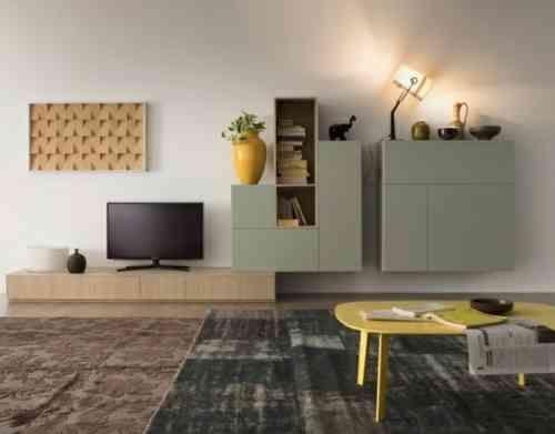 103 best Meuble tv images on Pinterest | Geometric wall paint ...