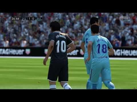 Sevilla vs FC Barcelona 3-2 Full Match FIFA 18 PC Gameplay HD