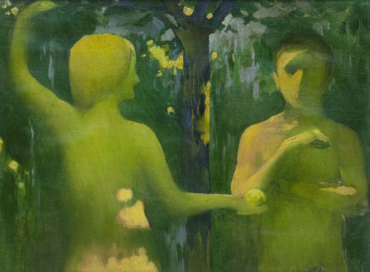 Adam and Eve, 1900 by János Vaszary (Hungarian (1867 - 1939)