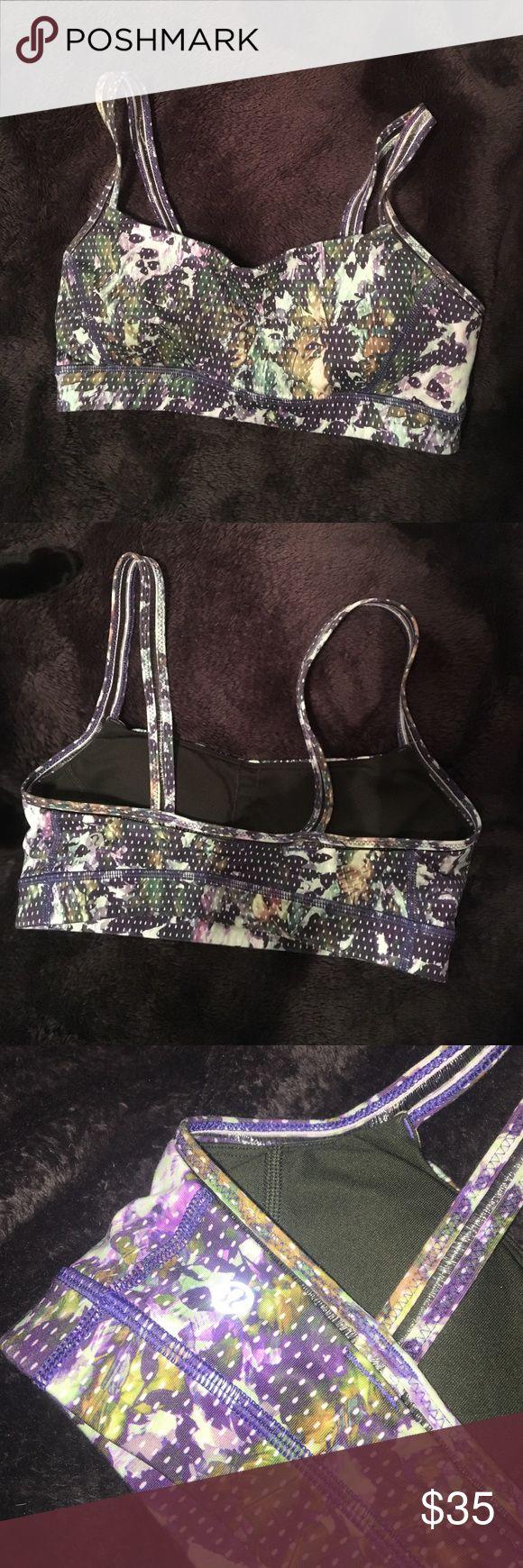 Lululemon sports bra Authentic Lulu Leaf pattern sports bra with cups inside lululemon athletica Intimates & Sleepwear Bras