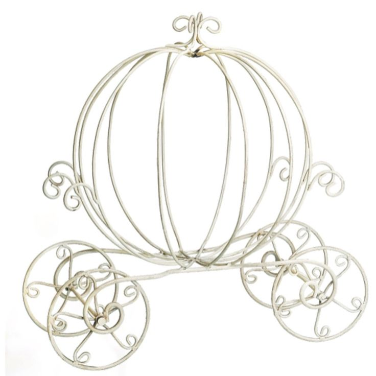 Adorable Wire Cinderella Cart In White. Use This Unique Piece For Your Wedding  Decorations At