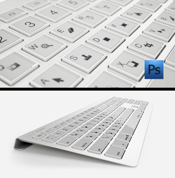 The e-ink keys change to fit the program you are using. I