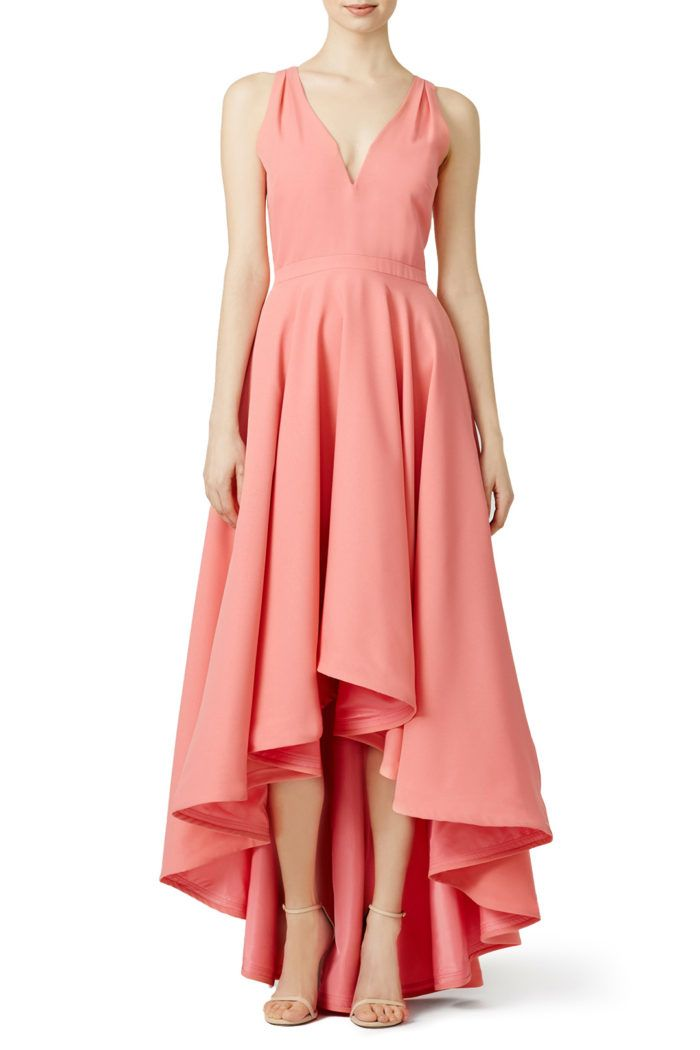 72 best coral bridesmaid dresses images on pinterest for Wedding dresses for guests spring