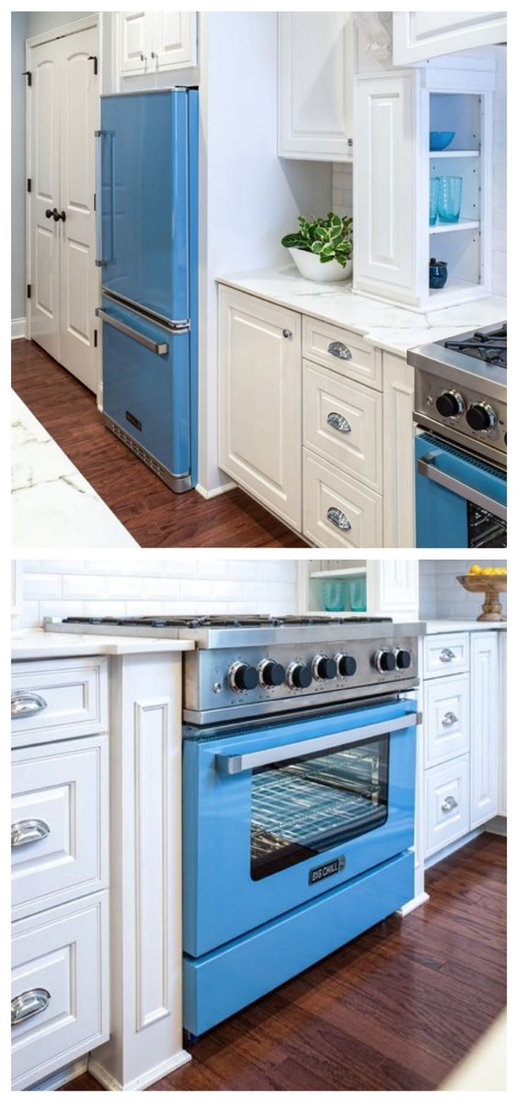 Aqua blue? Deep turquoise? Crisp white? If you've seen the color on the beach, it belongs in your kitchen.