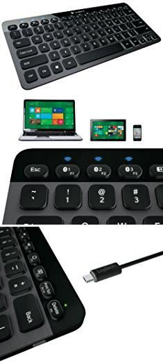 Best Tablet Pc With Keyboard. Logitech Bluetooth Illuminated Keyboard K810 for PCs, Tablets, Smartphones - Black.  #best #tablet #pc #with #keyboard #besttablet #tabletpc #pcwith