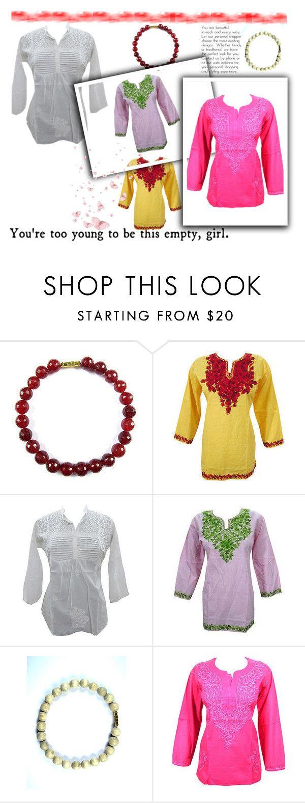 Bohemian Women's Cotton Short Kurtis by baydeals on Polyvore   http://stores.ebay.com/mogulgallery/DESIGNER-KURTI-/_i.html?_fsub=665889019&_sid=3781319&_trksid=p4634.c0.m322