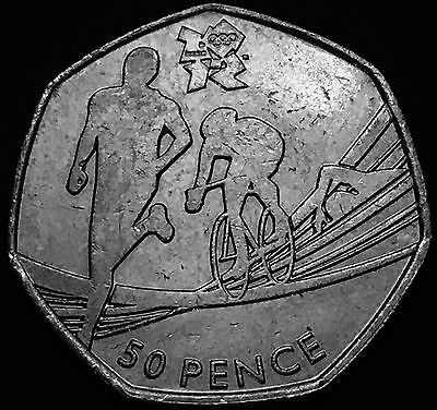 2011 50p #london 2012 olympics #triathlon #fifty pence coin ,  View more on the LINK: http://www.zeppy.io/product/gb/2/332058492252/