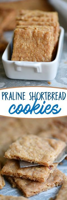 Praline Shortbread Cookies are quick, easy and have a buttery, caramel, flavor that you'll find irresistible! With just four ingredients, you can't go wrong!