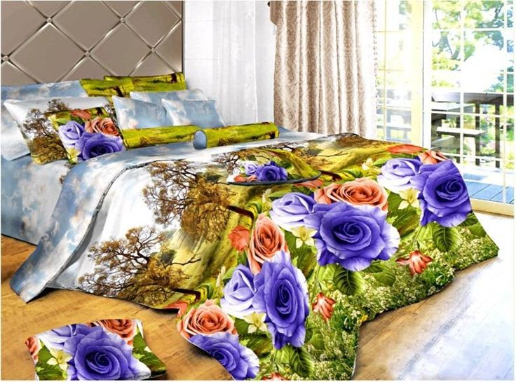 Dexim 3D Print Double Bed Sheet With Two Pillow Cover Set  ₹ 850.00