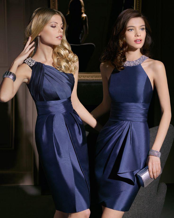 Vestidos cortos en azul y con pedrería. ¡Adéntrate en el mundo de los vestidos de noche cortos y elegantes! Vestidos cortos de noche para mujeres con curvas o no y lucir perfectas ¡compruébalo!