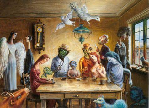"Danish painter, Otto Frello ""Models of Chagall."""