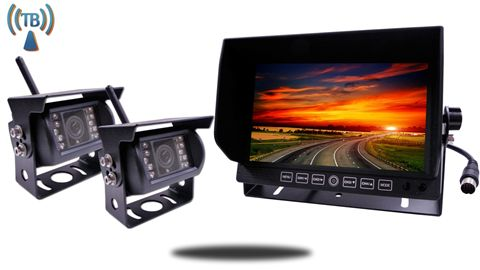 Digital Wireless Backup Camera System for 5th Wheel with 2 Cameras and a 9-Inch Hi Def Monitor