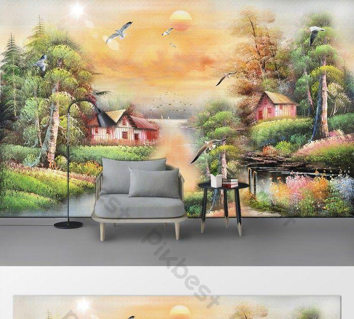 32 Lukisan Dinding Ruang Tamu Di 2020