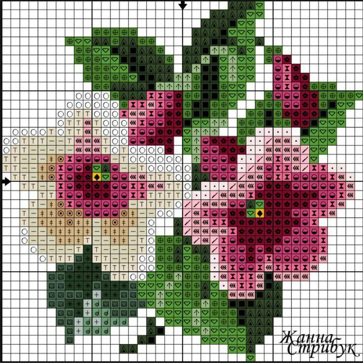 #crossstitch #kanaviçe #çiçek | crossstitch kan