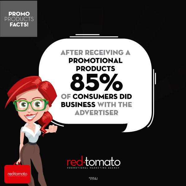 after receiving a promotional products, 85% of consumers did business with the advertiser