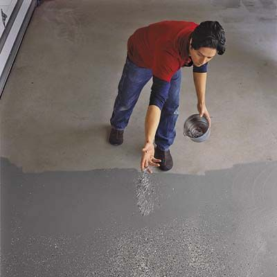 garage floor epoxy process from this old house