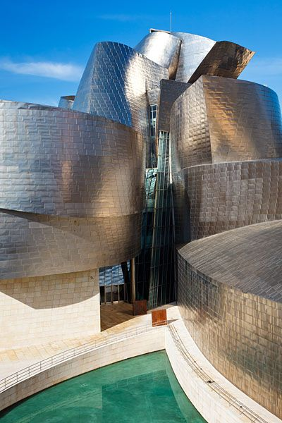 The Guggenheim Museum Bilbao, designed by North American architect Frank O Gehry