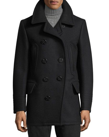 Wool-Blend Pea Coat by Tom Ford