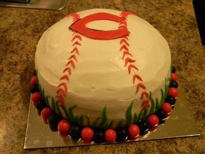Cincinnati Reds Birthday Cake By Lana-Lori on CakeCentral.com