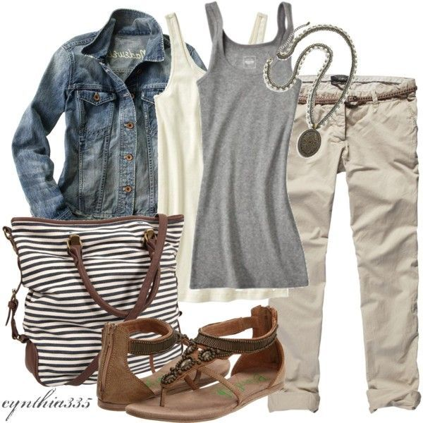 Casual OutfitCasual Outfit, Dressy Casual, Weekend Wear, Jeans Jackets, Fashion Design, Fashionista Trends, Comfy Casual, Spring Summe, Layered Tanks