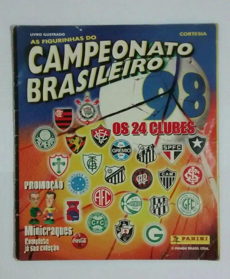 álbum campeonato brasileiro 1998 incompleto panini