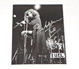 #9: Jethro Tull Aqualung Ian Anderson Signed Autographed B/W 810 Glossy Photo Loa