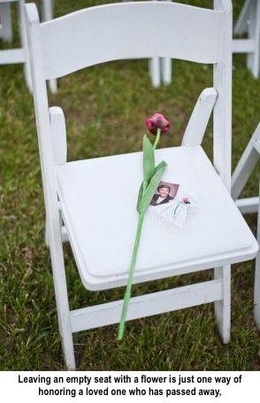 wedding memorials for deceased | ... Eventions: Honoring Deceased Loved Ones During Wedding Celebrations