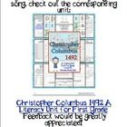 This is a sample of: Christopher Columbus 1492 A Literacy Unit For First Grade which offers some history through my original song (sang to Yankee D...