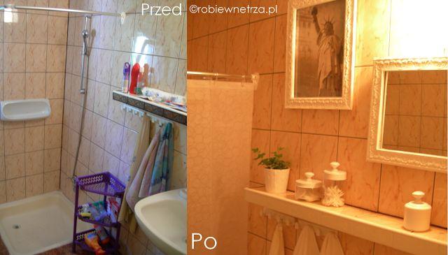metamorfoza łazienki, bathroom remodel on a budget