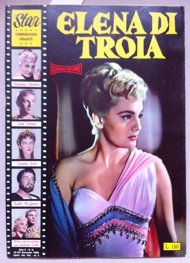 Star Cineromanzo ELENA DI TROIA Rossana Podestà, Jack Sernas, Janette Scott 1956