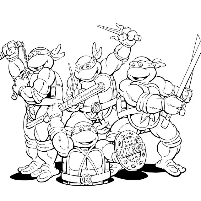 ninja turtles coloring pages for kids enjoy coloring - Colouring In Pages For Kids