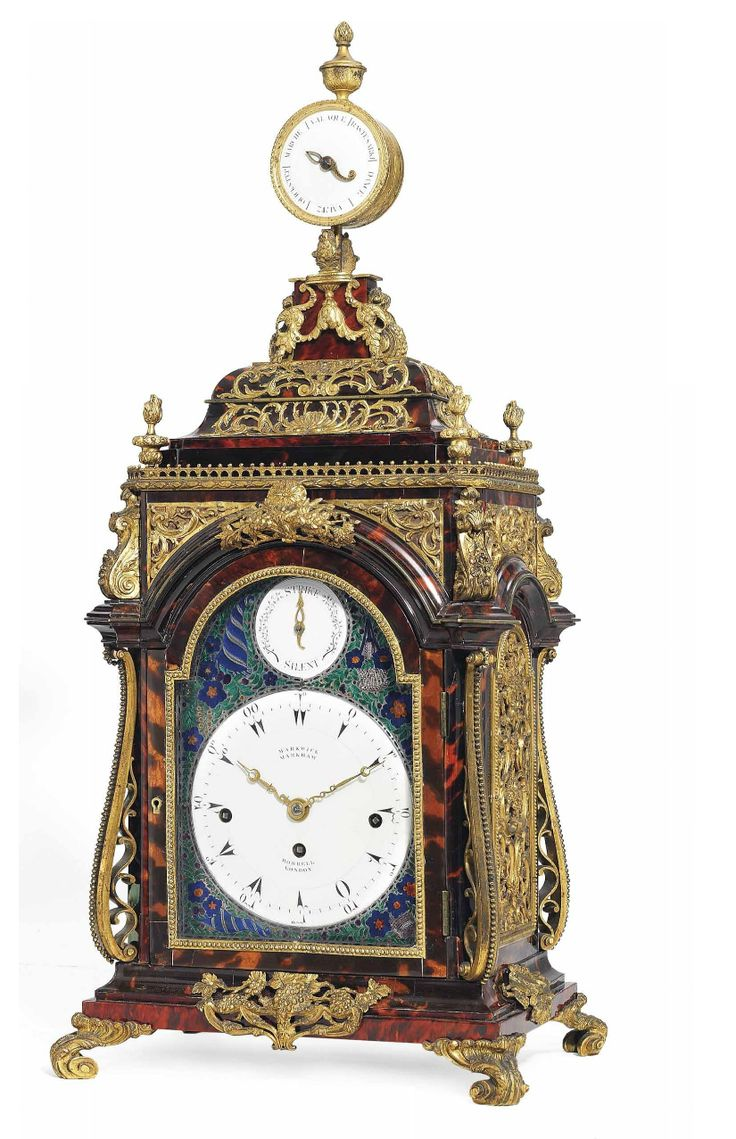 A GEORGE III ORMOLU MOUNTED TORTOISESHELL MUSICAL STRIKING EIGHT-DAY TABLE CLOCK MADE FOR THE OTTOMAN MARKET HENRY BORRELL,  A Swiss French Huguenot  LONDON, CIRCA 1790