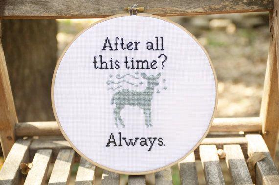 Harry Potter Always Cross Stitch Pattern by RHTembroidery