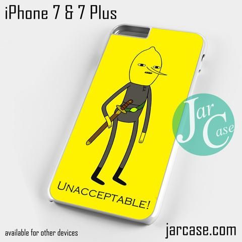 Lemongrab Unacceptable Phone case for iPhone 7 and 7 Plus