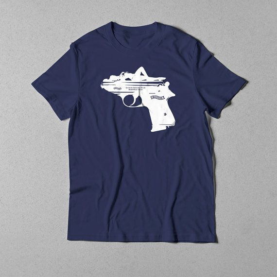 Walther PPK - Navy blue t-shirt (013)