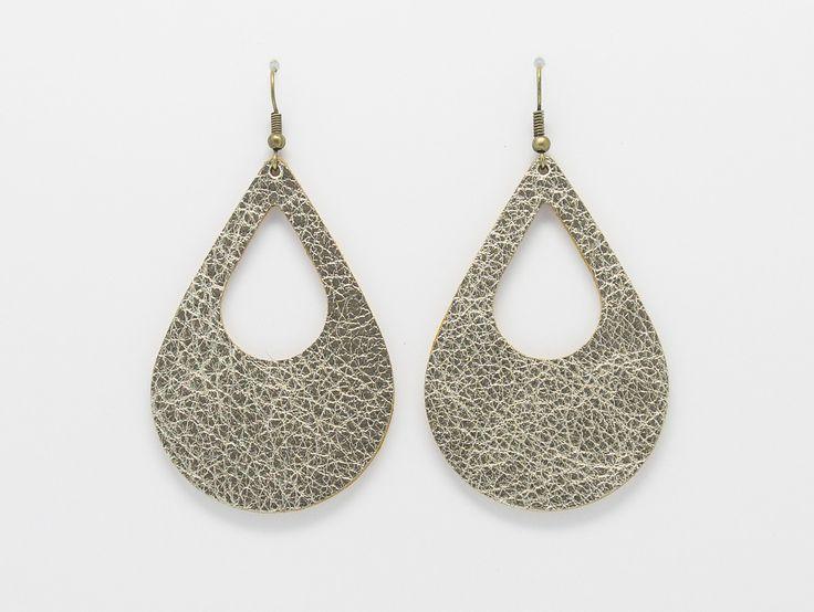 Grandes boucles d'oreilles ETHNIC en cuir / légères et originales / fait main : Boucles d'oreille par pretty-leather-things