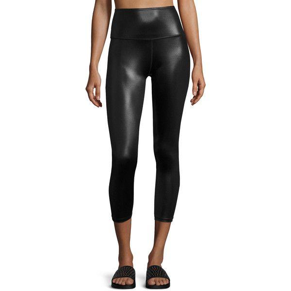 Beyond Fitness Leggings: Shiny Capri Leggings
