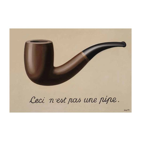 Rene Magritte The Treachery of Images Journal // instead of pipe, adding a monuments or building or localname