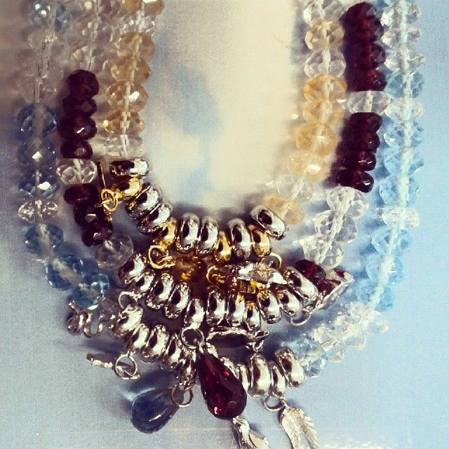 I love #battiquore #milano! #silver #jewel with #natural #stones! Bracelet #karma #collection with #bluetopaz #garnet and #citrine with #silvercharms ! shop online www.battiquore.it